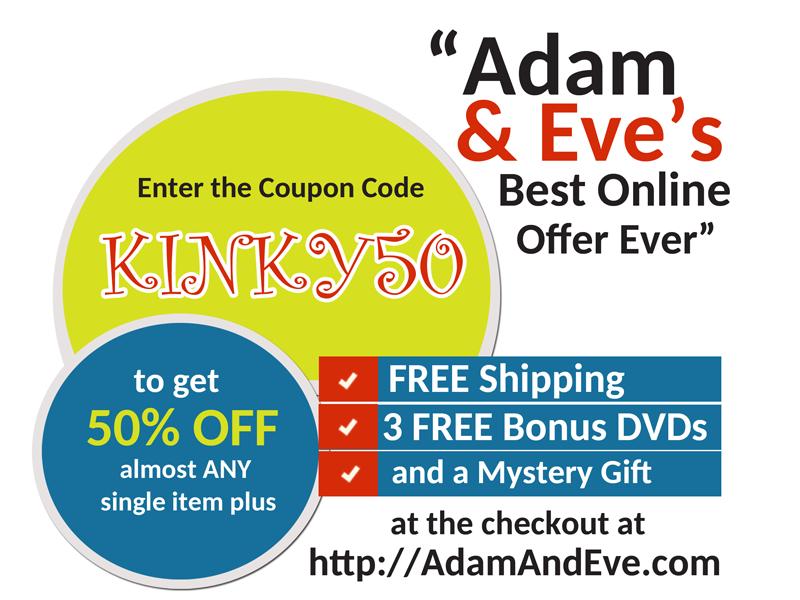 kinky50, coupon code, adam & eve coupon code, coupon code adam & eve, adam & eve, adamandeve.com, adamandeve