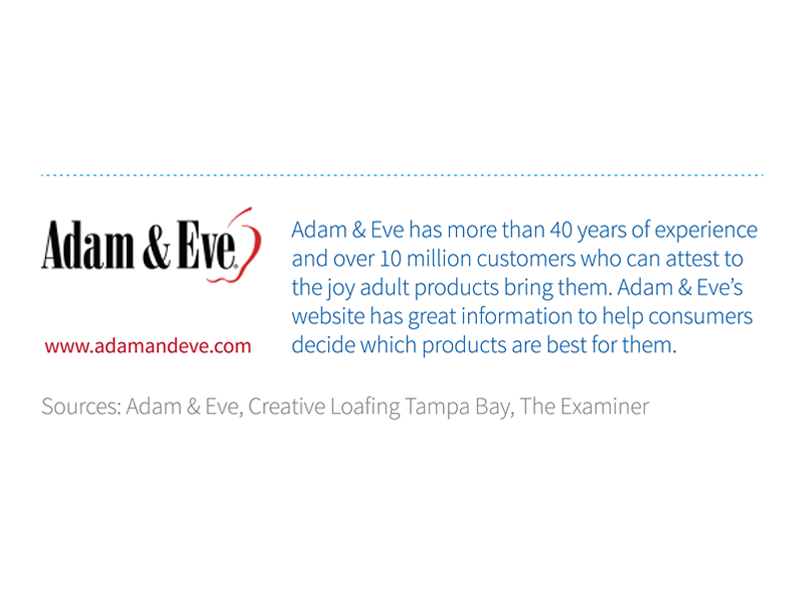 adam & eve sources